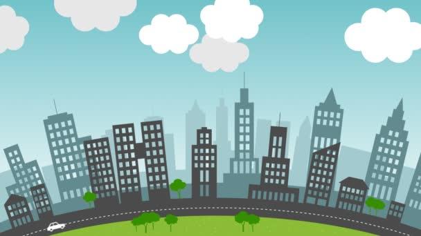Cambiamento delle stagioni in una città
