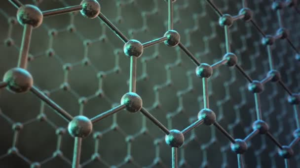 animation of the graphene structure