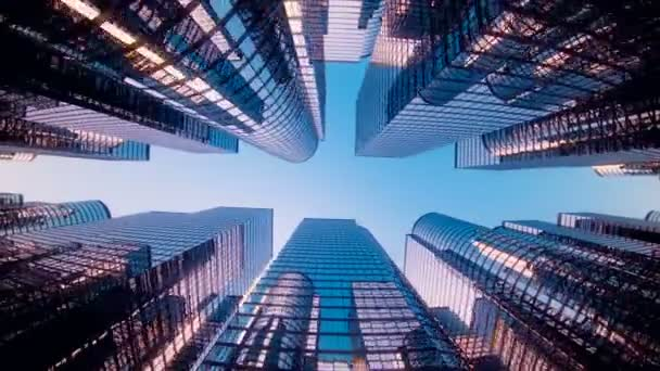 Big city glass buildings