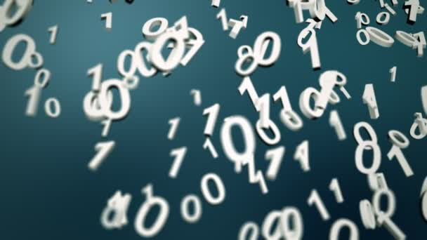 Concept animation of binary digits
