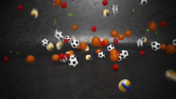 sportovní míče narážení a válcování