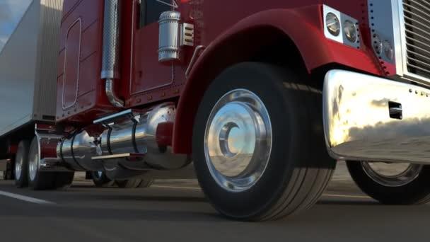 Návěs nákladní automobil na silnici