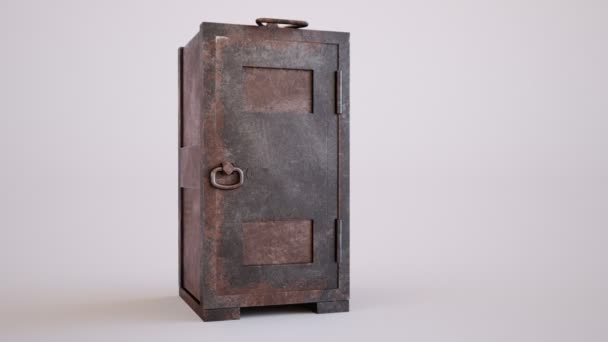 Old rusty steel safe