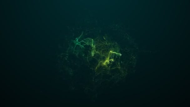 Abstraktní pozadí částice světle zelený dým