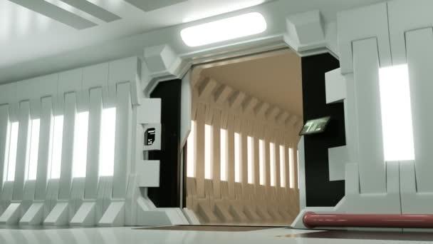 Futuristic Spaceship Door Opening