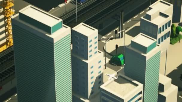 Metropolian město s létající Drone