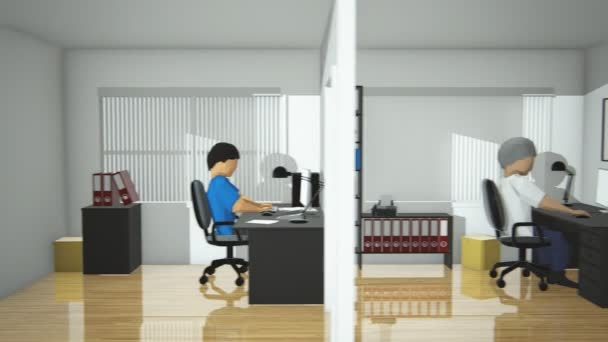 Employees Working In Business Centre