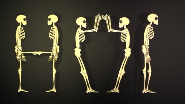 Horror Word Made With Human Skeletons