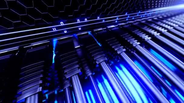 moderní síťový přepínač s kabely