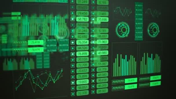 Futurisztikus grafikus felhasználói felület ingadozó grafikon