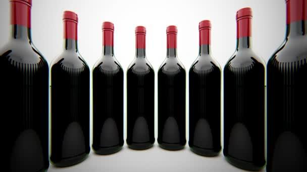 červené vinné lahve