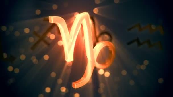 Animation of Capricorn zodiac sign.