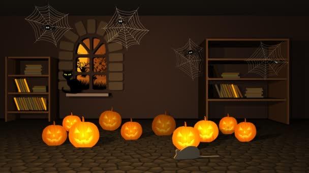 Strašidelné Halloween dýně a Spider