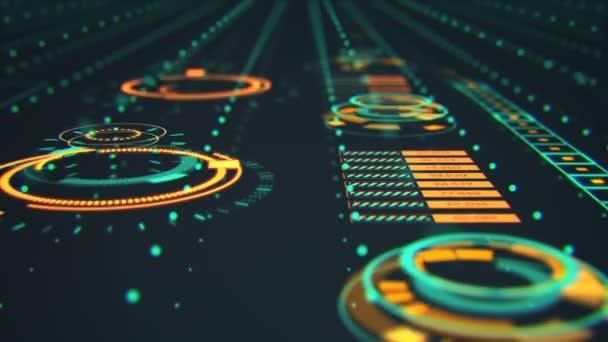 Futuristické grafické uživatelské rozhraní kolísá graf poměr