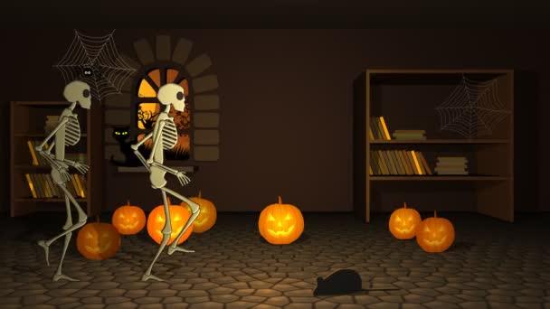 Emberi csontváz, séta a boszorkány ház