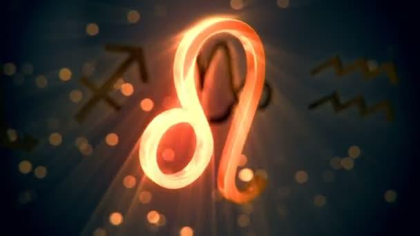 Animation of Leo zodiac sign.