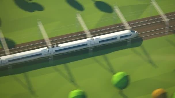 Passenger Train Arriving At Railway Station Platform