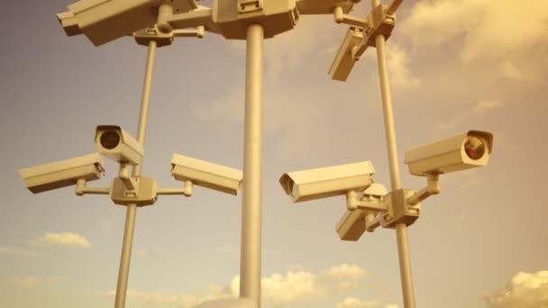 Bezpečnostní kamery smyčka cctv bezpečnostní kontrolu soukromí