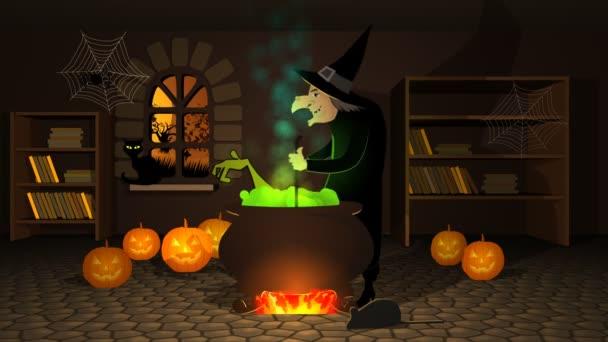 čarodějnice připravuje lektvar