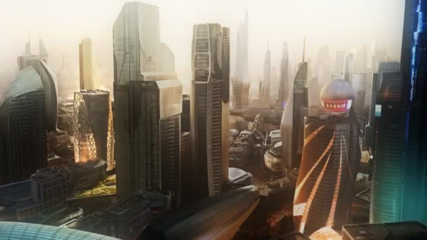 Panoráma města s moderní mrakodrapy