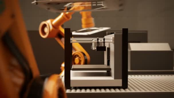 Braccio robotico montaggio stampante 3d