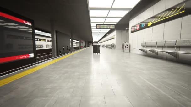 vlak metra na stanici地铁列车在车站