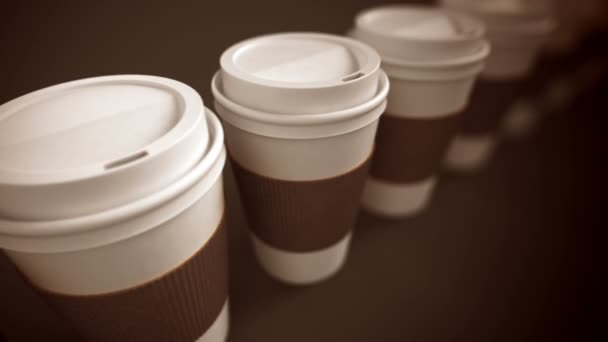 take-away coffee cups with brown holding stripe