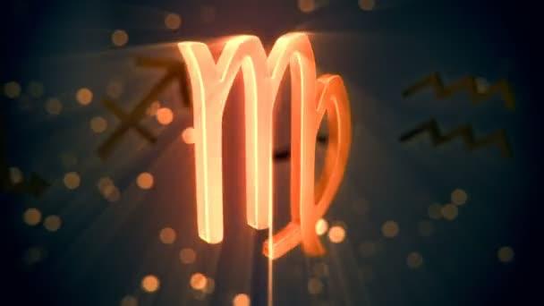 Animation of Virgo zodiac sign.