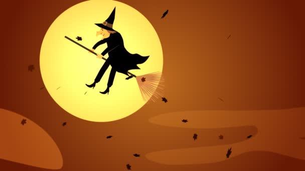 a seprűnyél repülő boszorkány