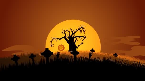 A Graveyard Halloween Background