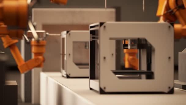 Bracci robotici montaggio stampante 3d