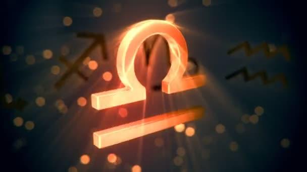Animation of Libra zodiac sign.
