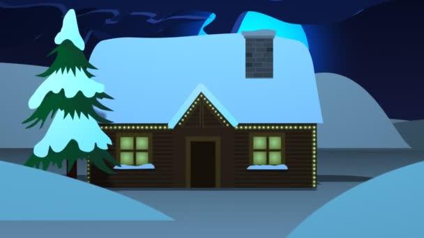 Dekorativní vánoční dům s krbem