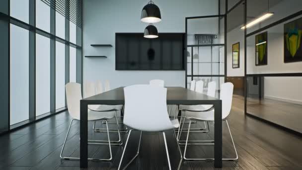Moderní skleněné konferenční místnost