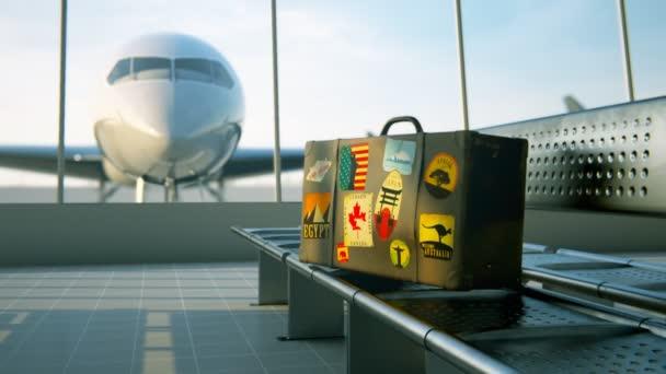 Valigia con le etichette del mondo viaggio famose destinazioni
