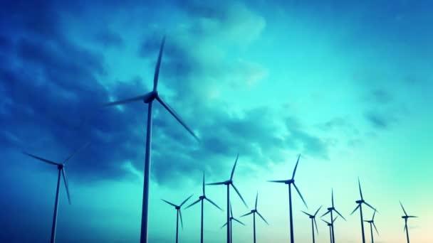 větrné elektrárny vyrábějící elektřinu