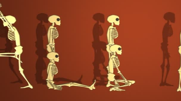 Halloween Word Made With Human Skeletons