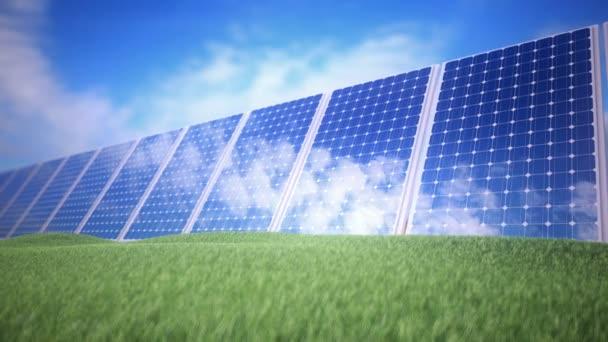 lesklé panely, které odrážejí sluneční světlo