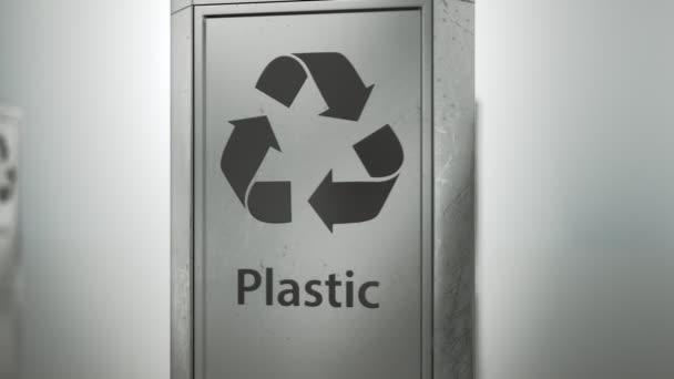 Rotating Metallic Recycle Bin