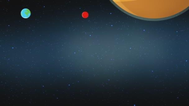 Mars v sluneční soustavě