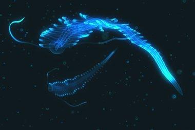 Deep sea illuminating creature