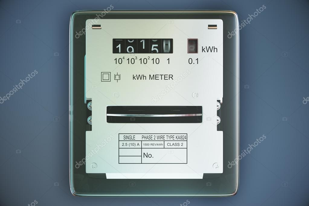 Analog electricity meter showing household consumption. power me ...
