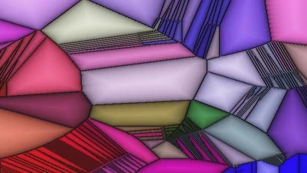 Barevné sklo mozaika, Geometrická abstraktní umění ornament