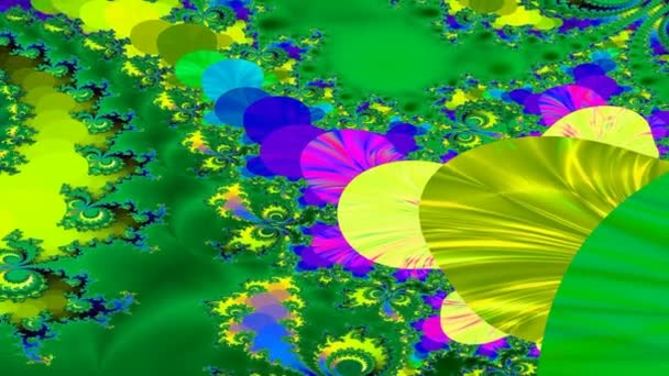Colorful screensaver fractal graphic in motion.