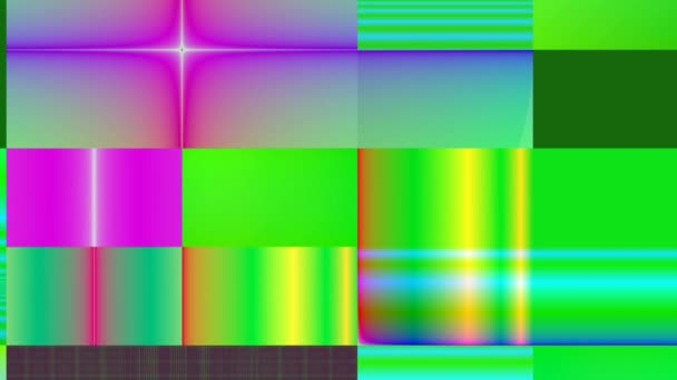 Rectangular multi-colored gradient background in motion.