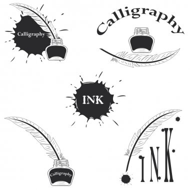 set of logos for calligraphy