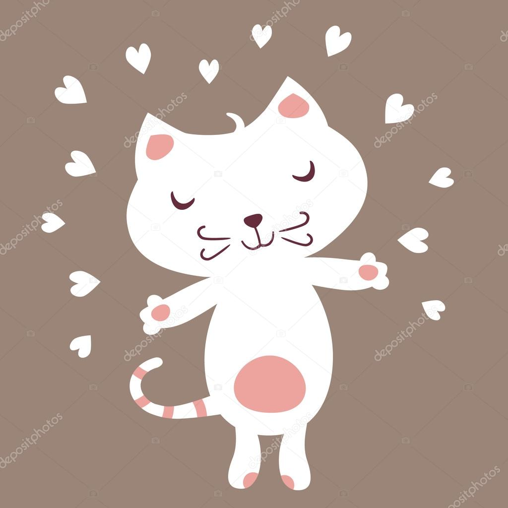 Cute Cat heart