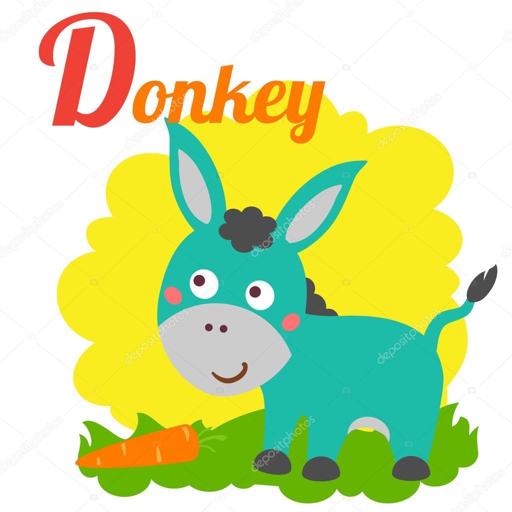 Donkey Letter Cute