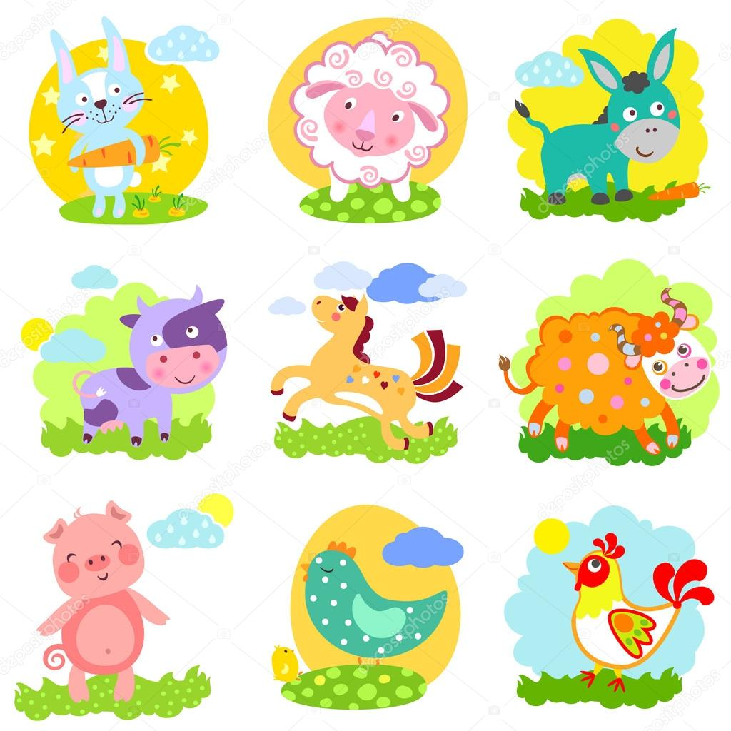 Farm Set Animals