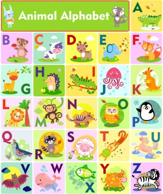 Letters Cute Animal